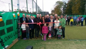 Charlie Flanagan cuts the ribbon to officially open Court 5